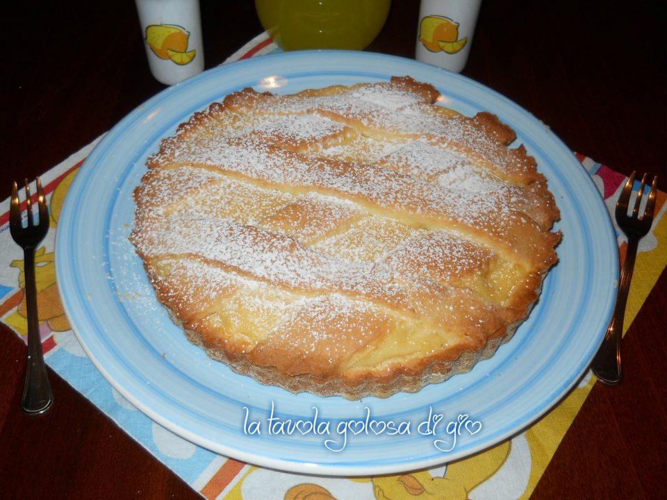 Crostata alla crema di limone morbida