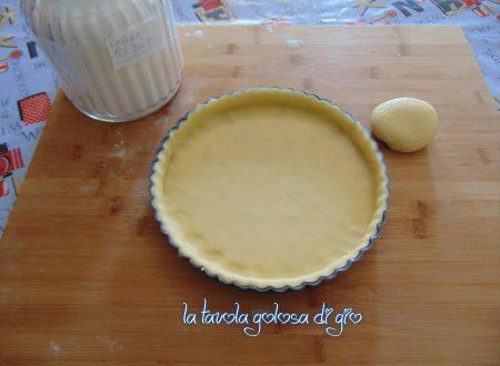 Pasta frolla senza burro al limone