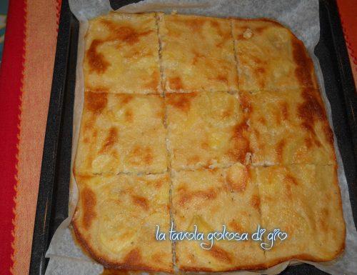 Pizza di patate senza lievito facilissima