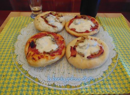 Pizzette soffici al prosciutto cotto