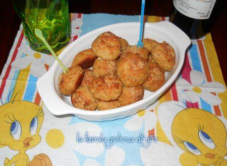 Polpettine di zucchine al forno gratinate