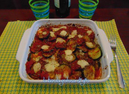 Zucchine con mozzarella alla pizzaiola