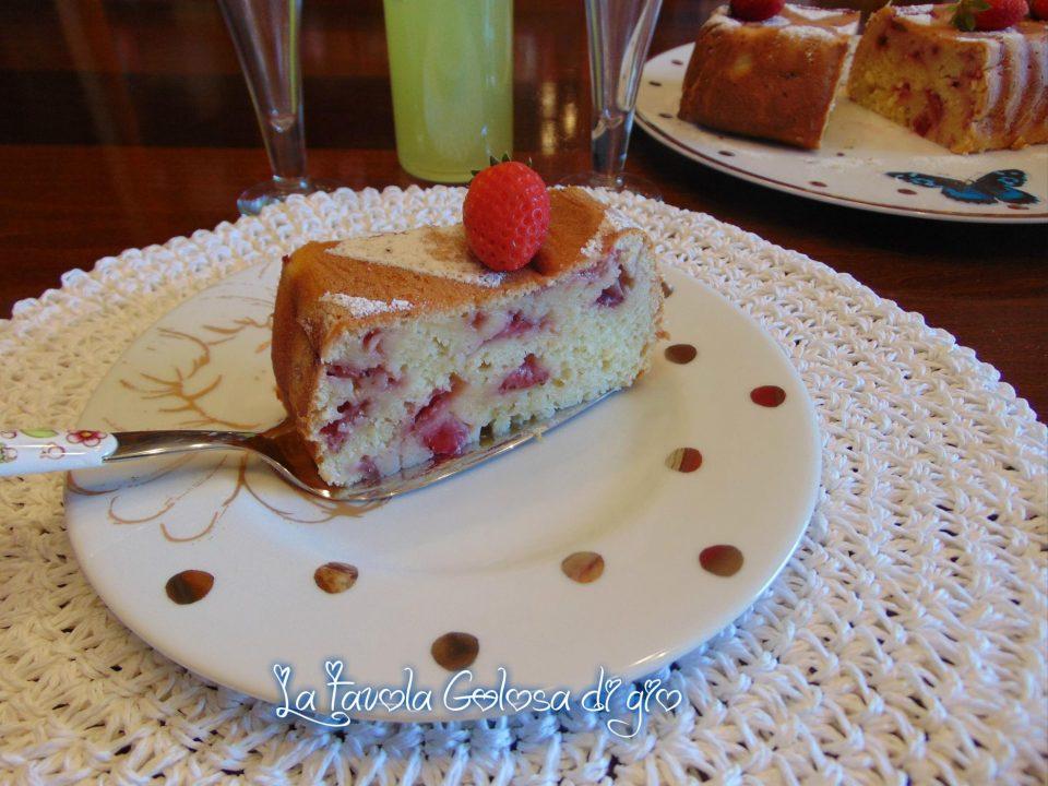 Plumcake di fragole senza burro e olio
