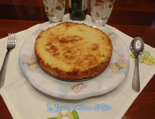Torta gratinata di patate rustica con provola