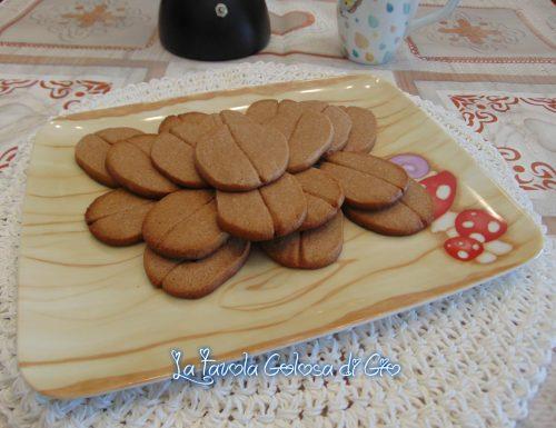 Biscotti friabili al caffè facili senza stampi