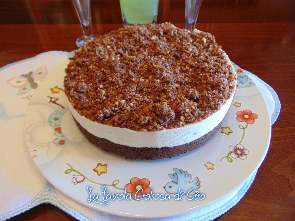 Torta fredda sbriciolata al bergamotto