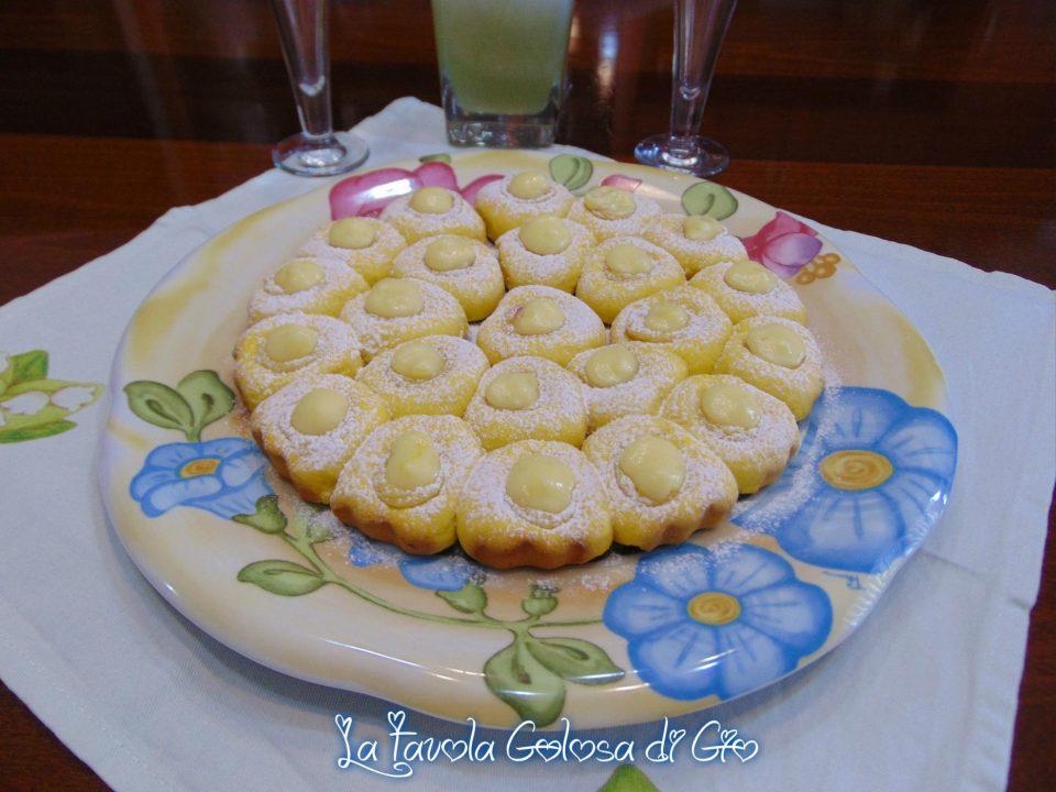 Crostata pasticcino con crema e cioccolato