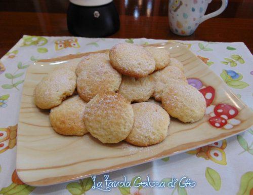 Biscotti morbidi di Philadelphia e limone