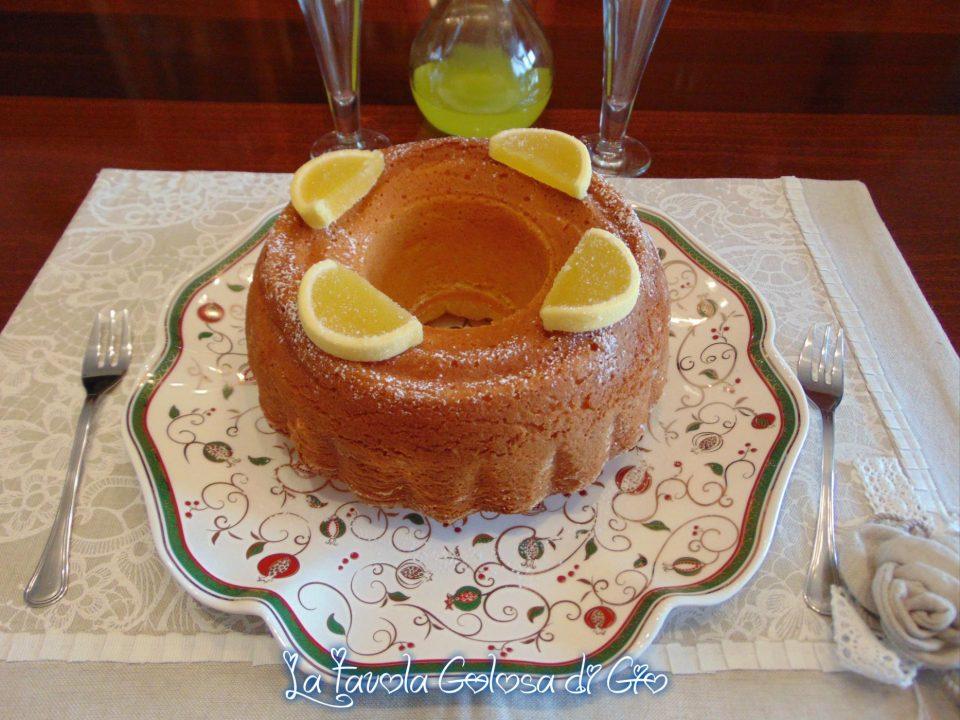 Ciambella soffice al limone senza burro