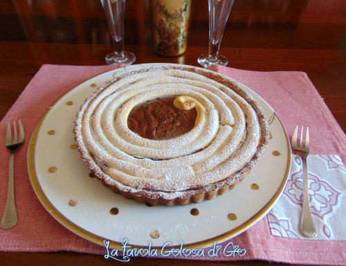Crostata arrotollata con crema al cioccolato