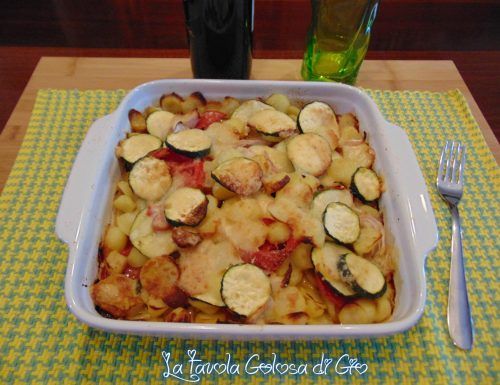 Patate intriganti lucane con zucchine
