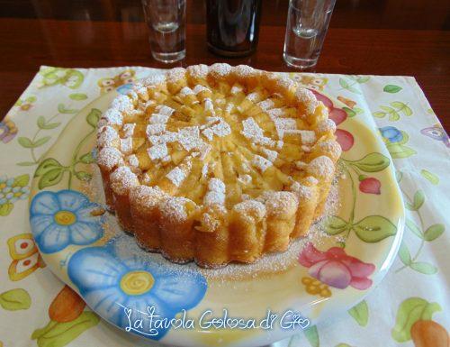 Torta rovesciata di mele senza bilancia