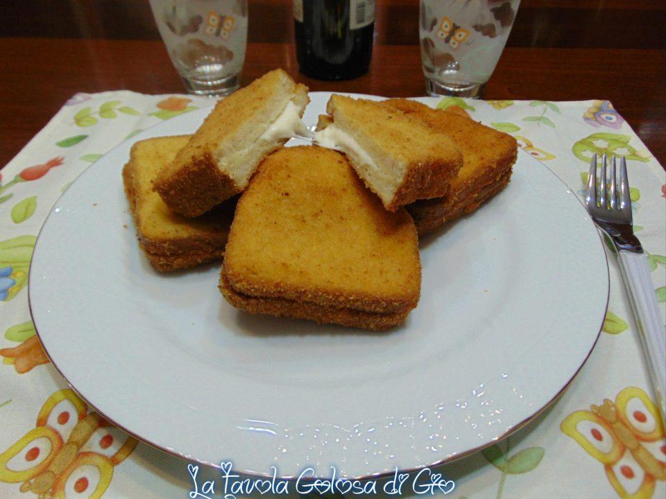 Mozzarella in carrozza con pan Carrè