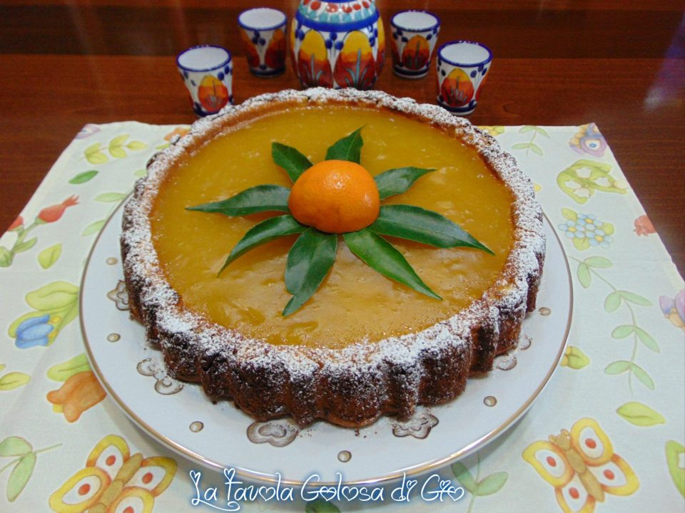 Torta furba con crema d'arancia