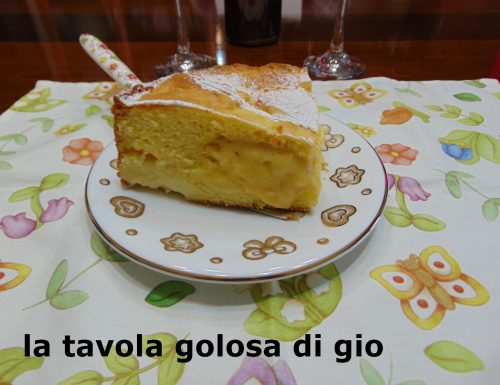 Torta Nua con crema di panna al cucchiaio