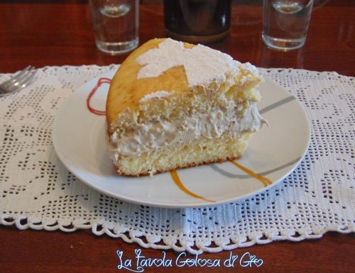 Torta nuvola con crema al caffè e panna