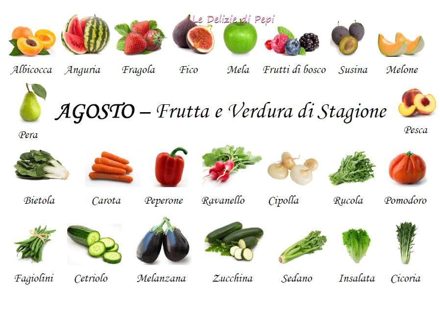 Stagionalità di frutta e verdura - Le Delizie di Pepi