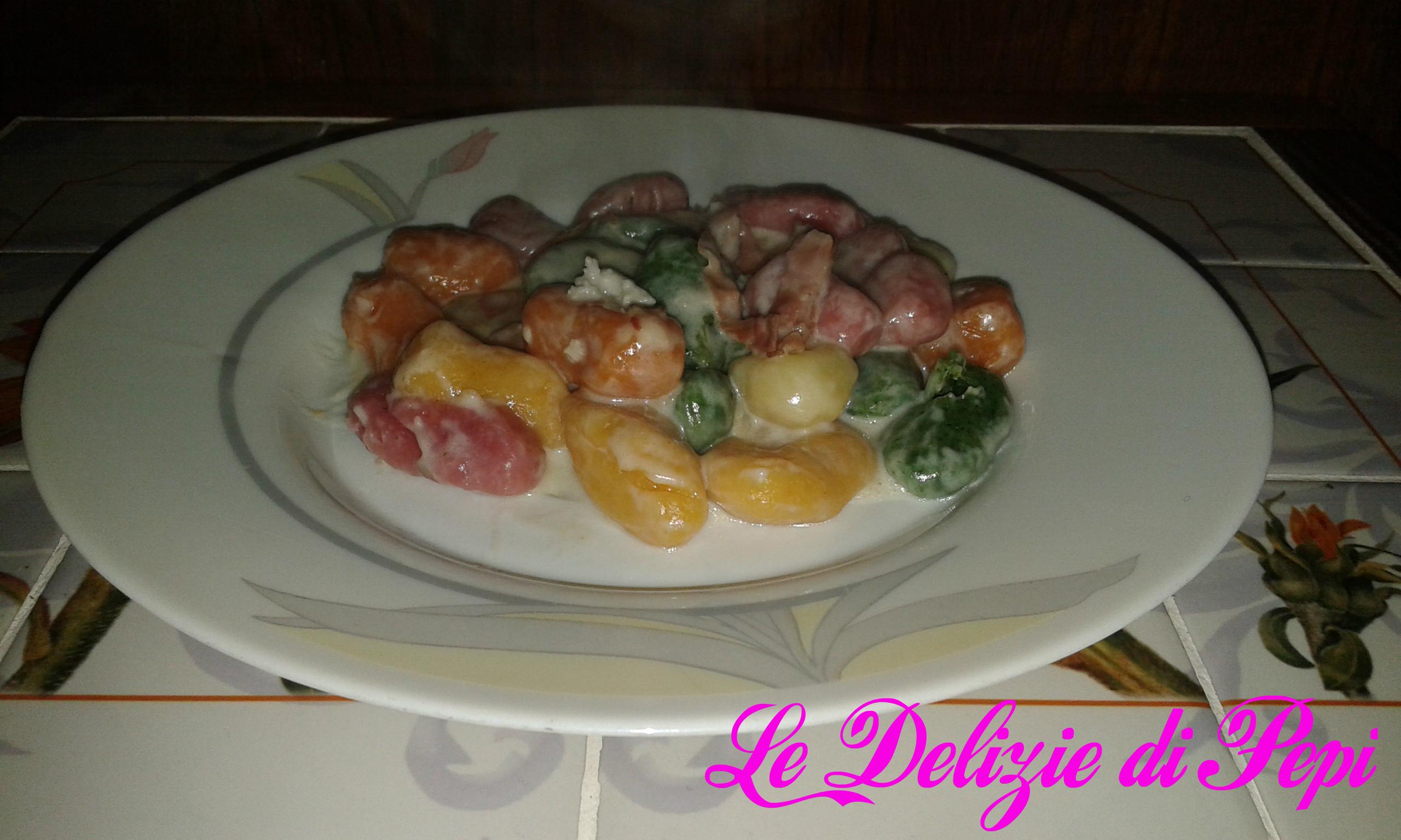 Gnocchi di patate arcobaleno