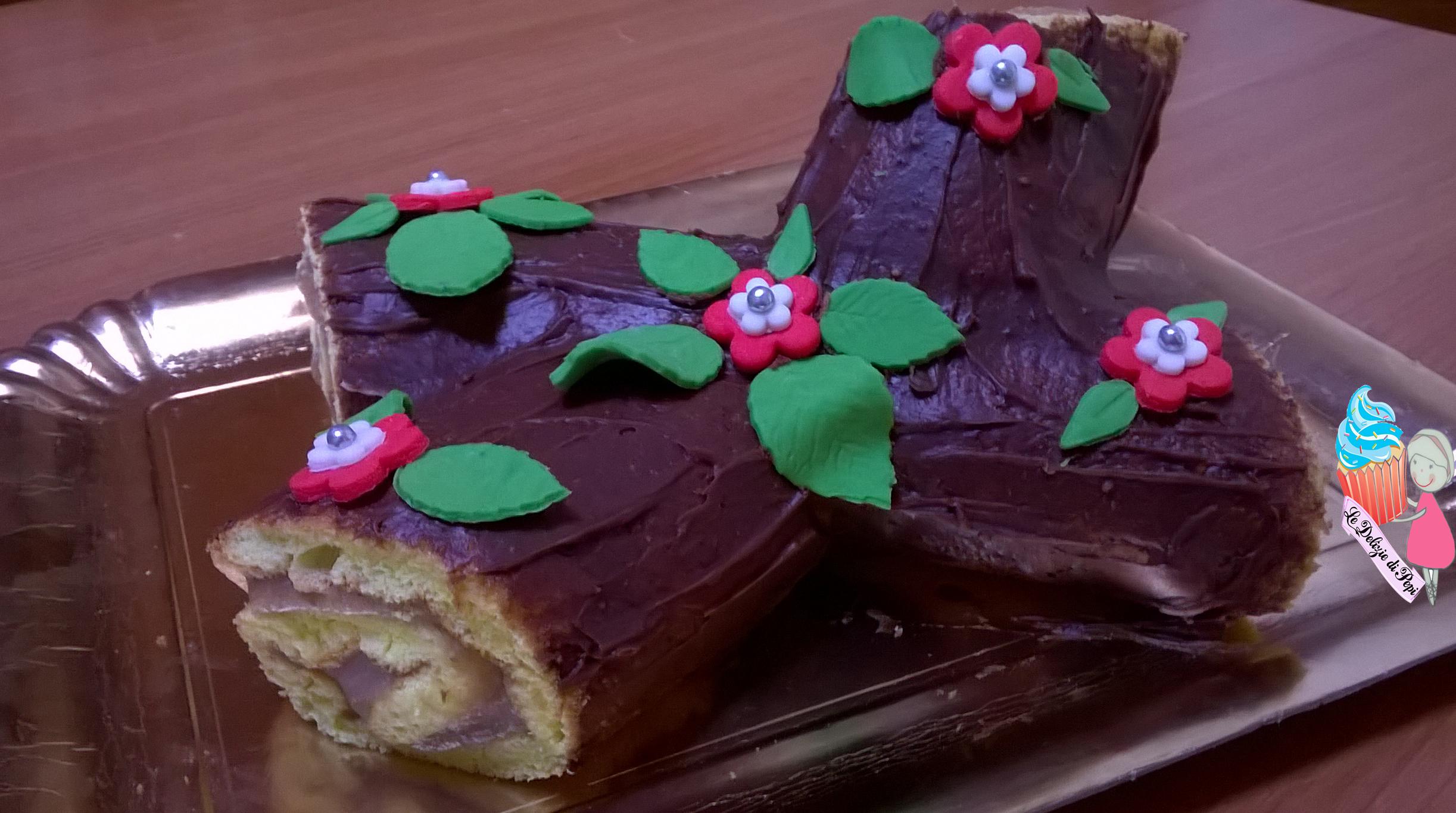 Tronchetto Di Natale Con Marmellata Di Castagne.Tronchetto Con Crema Di Castagne Le Delizie Di Pepi
