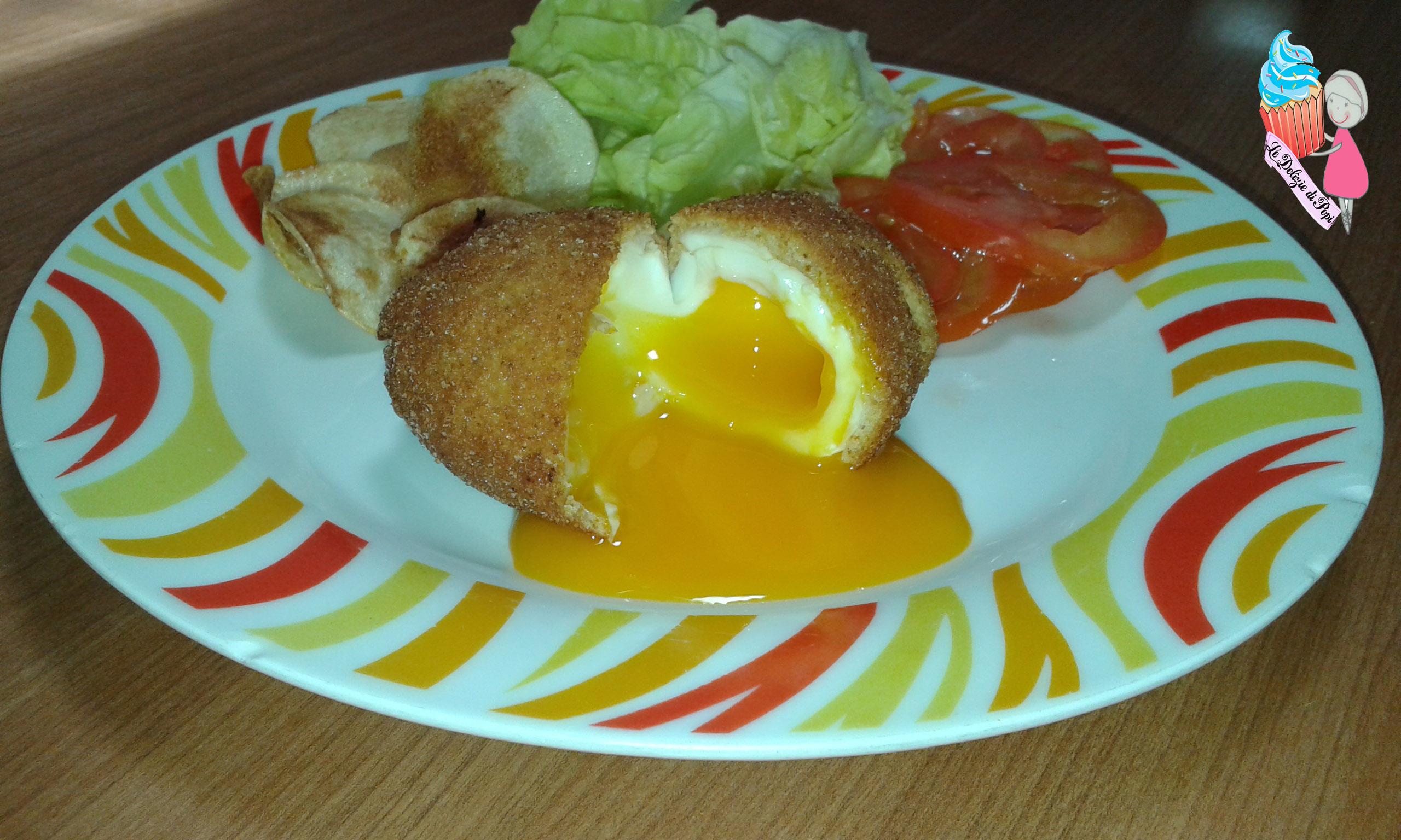 uovo alla coque fritto