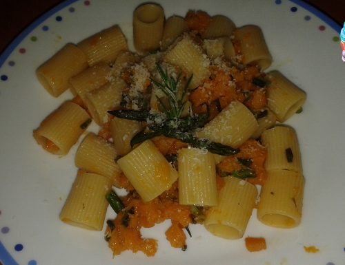 Pasta zucca e asparagi