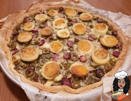 Torta salata con ricotta e carciofi