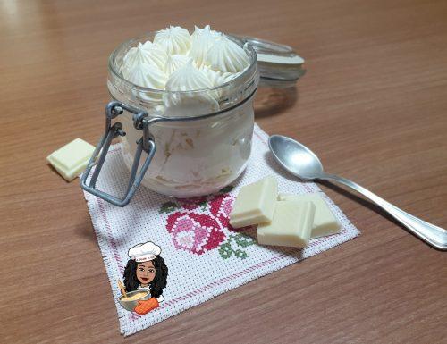 Crema namelaka al cioccolato bianco