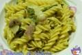 Pasta asparagi pancetta e finta carbonara