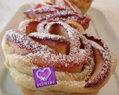 #Ricetteperlafestadellamamma: Rose di mela e crema pasticcera