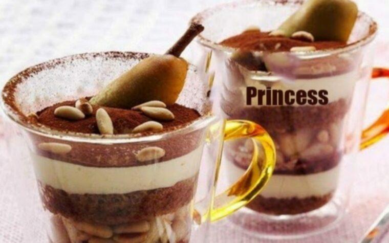 Tiramisù alle Pere Cacao e Pinoli
