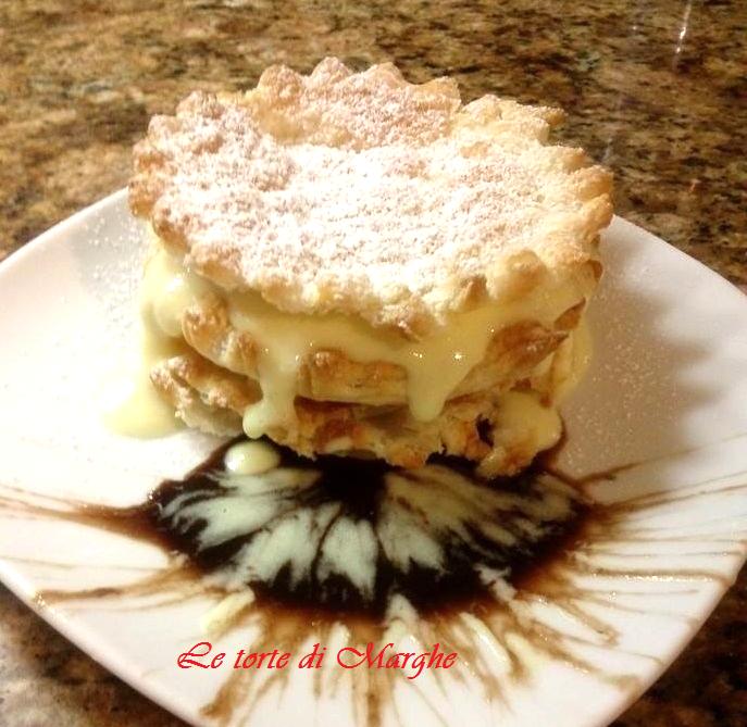 Sfogliatine con crema pasticcera Le torte di Marghe