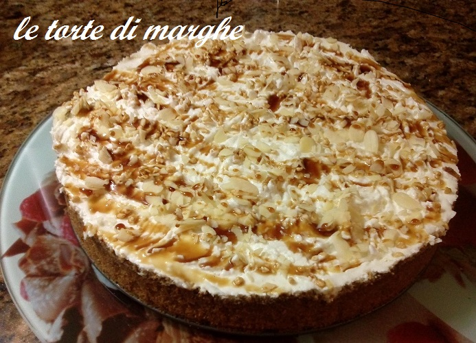 Cheesecake banana e caramello