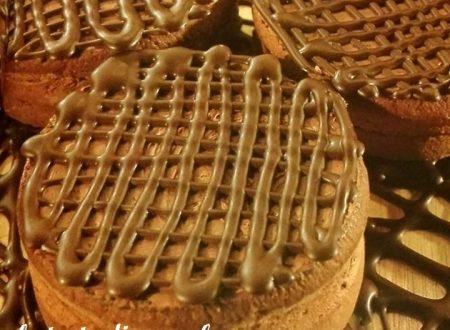 tortine farcite al cioccolato fondente