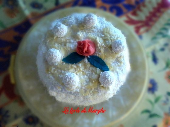 torta al cocco panna e mascarpone