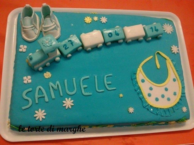 torta per battesimo pasta di zucchero
