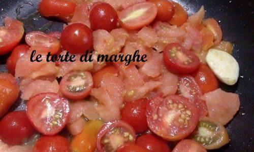 linguine con pomodorini gratinati…….