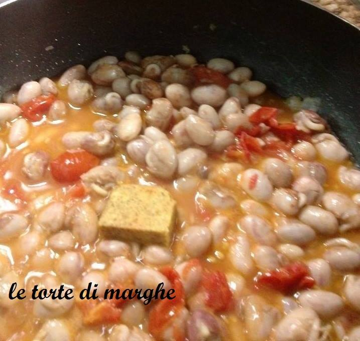 zuppa di borlotti freschi piatto vegetale