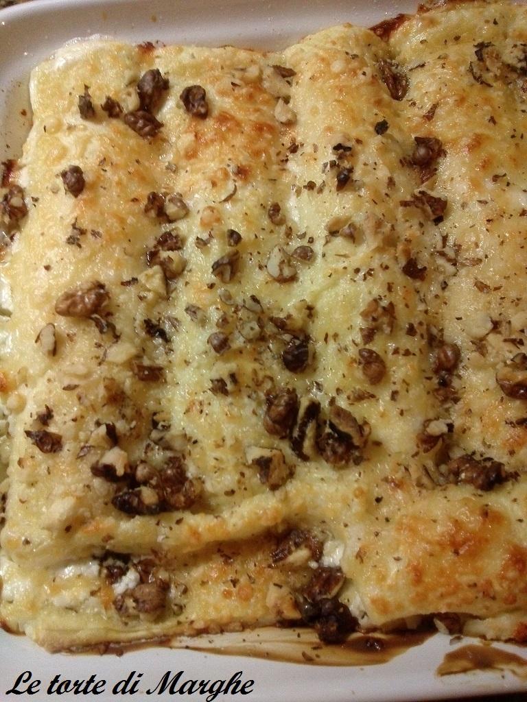 Cannelloni con ricotta gorgonzola e noci