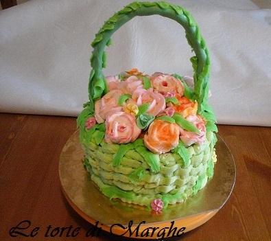 torta a forma di cestino