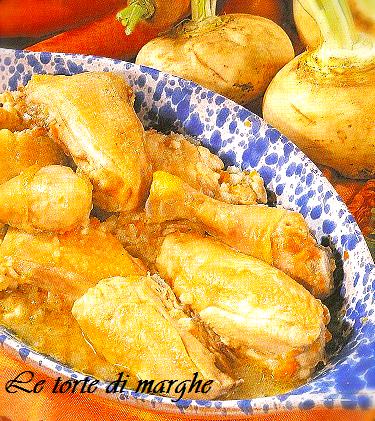 Pollo al limone al forno con verdure....