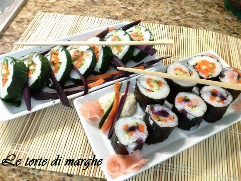 Sushi vegetariano ideale per vegani…..