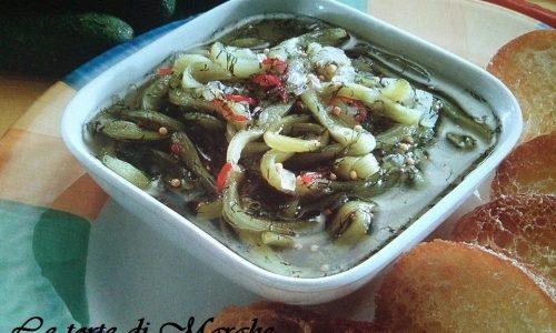 Chutney ai peperoni scarola e cetrioli..
