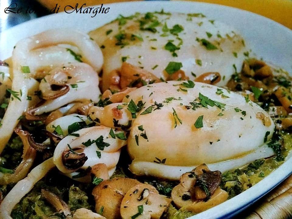 Seppie con funghi e scarola ricetta…..