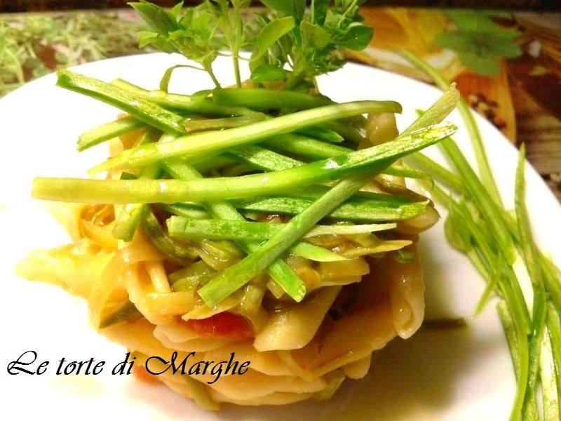 maccheroncini con zucchine