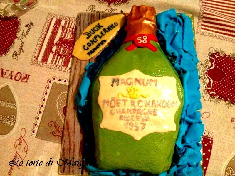 Torta bottiglia chanpagne