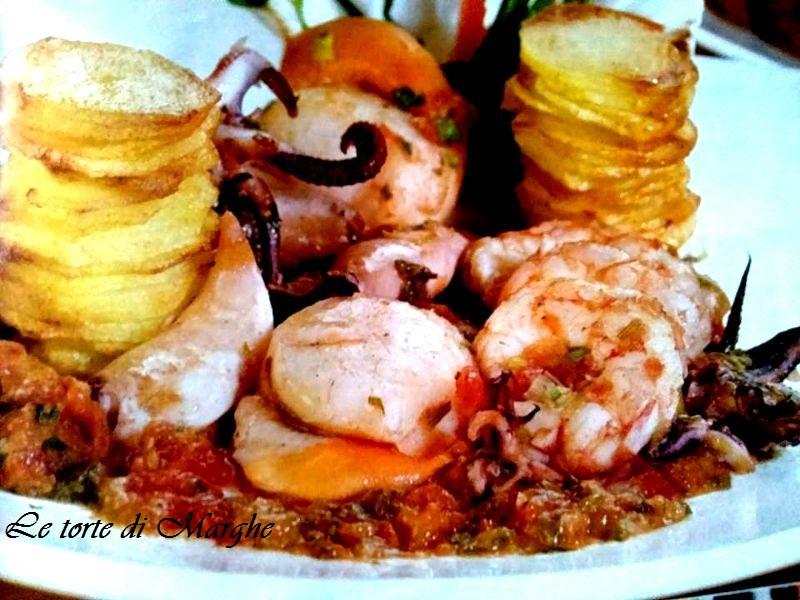 Misto mare con patate, ricetta golosa…