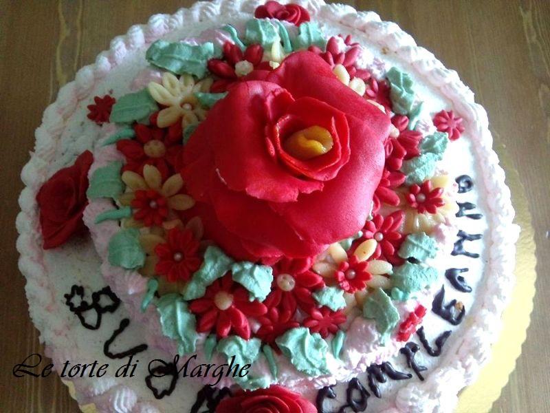 Torta di compleanno con rose in pdz.. | Le torte di Marghe
