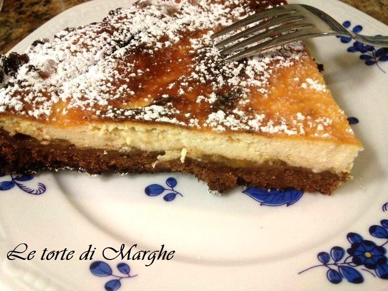 Cheesecake cotta al forno con ricotta...