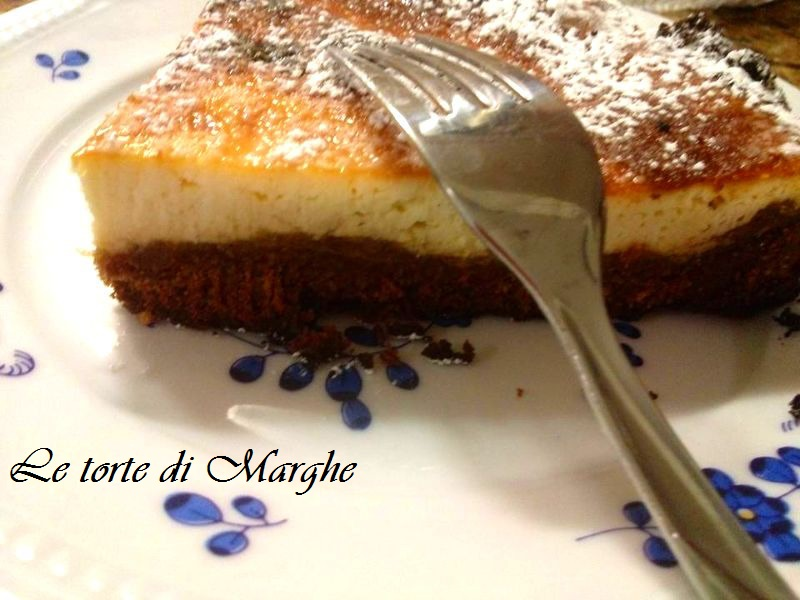 Cheesecake cotta al forno