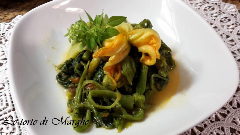 Foglie o talli di zucchine